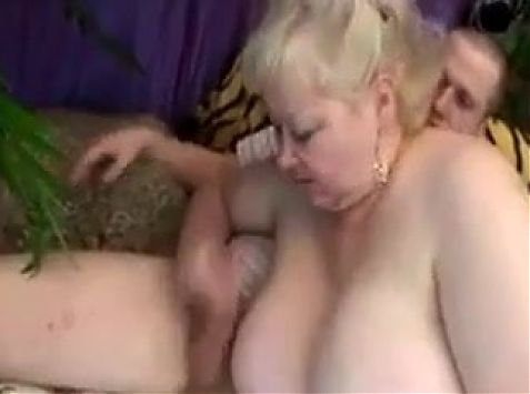 Huge Granny Dildo Play and Fucking