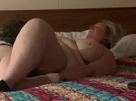 Sexy Blonde BBW Milf Getting Her Pussy Eaten By Me